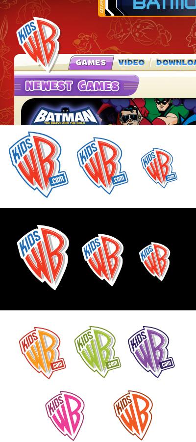 KidsWB.com Logo Design