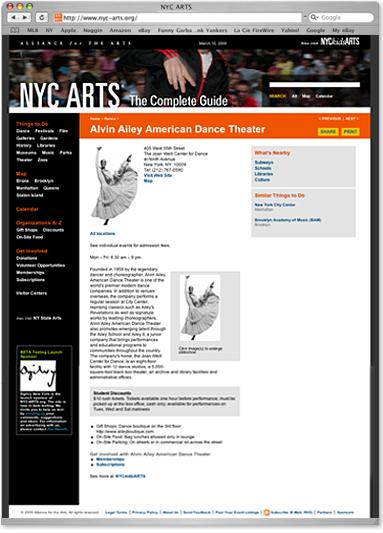 NYC Arts Website