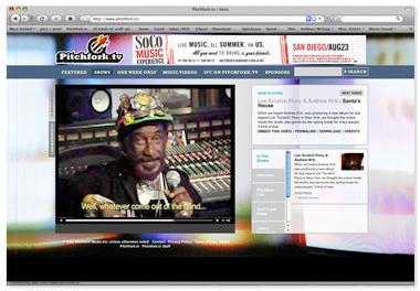 Pitchfork.TV Website