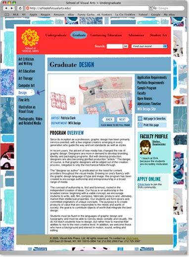 School of Visual Arts Website