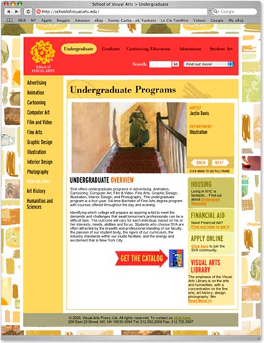School of Visual Arts Website